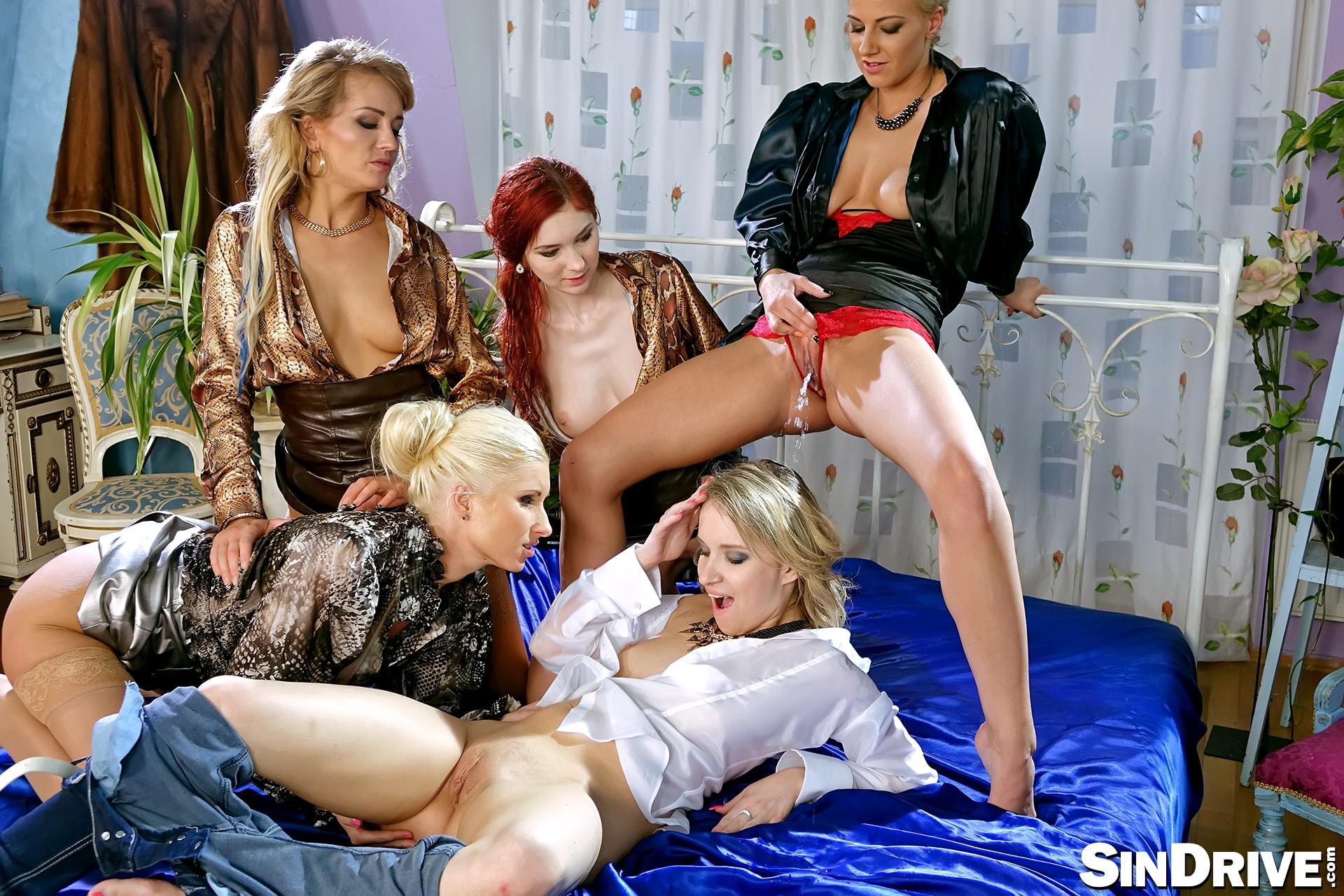 Lesbian golden shower dominatrix